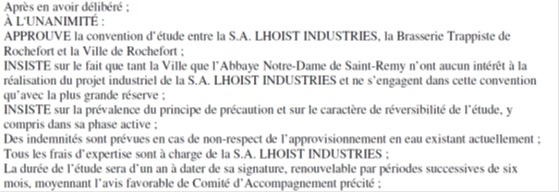 Extrait du Procès-Verbal du Conseil Communal de Rochefort du 30 juin 2008